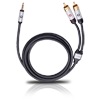 Oehlbach 60002 iConnect cable: 3.5 mm male jack to 2 x RCA 1.5m