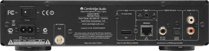 Задняя панель Cambridge Audio NP30